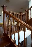 Wooden spiral staircase Royalty Free Stock Photos
