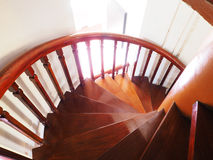 Wooden spiral staircase Stock Photography