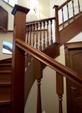 Wooden spiral staircase Royalty Free Stock Photography