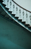 Wooden spiral stairs in ancient interior Royalty Free Stock Photos