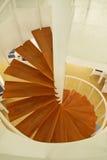 Wooden spiral stairway Stock Photo