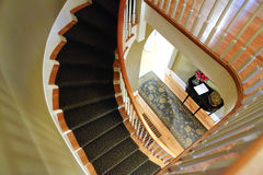 Wooden spiril staircase Royalty Free Stock Photo