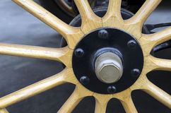 Wooden Spoke Wheel Royalty Free Stock Photography