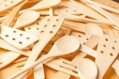 Wooden spons and spatulas Stock Image