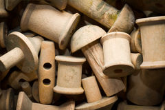 Wooden spools Royalty Free Stock Photography