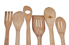 Wooden Spoon Border Royalty Free Stock Image
