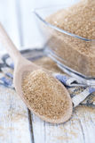 Wooden Spoon with Brown Sugar Stock Photos