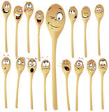 Wooden spoon cartoon Stock Images