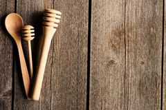 Wooden spoon and dippers Stock Image