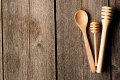 Wooden spoon and dippers Royalty Free Stock Image