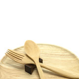 Wooden spoon, fork Stock Photography