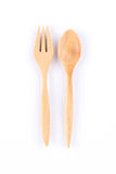 Wooden spoon and fork Royalty Free Stock Photos