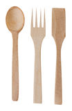 Wooden spoon and fork Royalty Free Stock Image