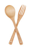 Wooden spoon and fork Royalty Free Stock Photo