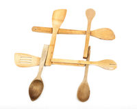 Wooden Spoon Hashtag Royalty Free Stock Images