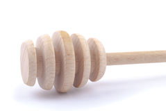 Wooden spoon for honey Stock Images