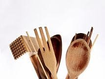 Wooden spoon. Image of wooden spoon on a table royalty free stock photos