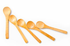 Wooden spoon isolate Stock Photos
