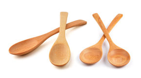 Wooden Spoon isolated on white background Royalty Free Stock Images