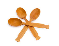 Wooden Spoon isolated on white background Royalty Free Stock Image