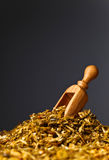Wooden spoon with mixture of different  spices Stock Photography