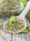 Wooden Spoon and Oregano Stock Image