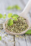 Wooden Spoon and Oregano Stock Photography
