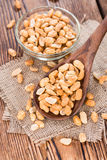Wooden spoon with Peanuts Stock Image