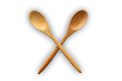 Wooden Spoon with shadow Stock Photo