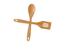 Wooden spoon and spatula Stock Photo