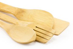 Wooden spoon, spatula Stock Photo