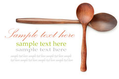 Wooden Spoon. S over white with sample text Stock Photos