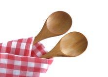 Wooden spoon utensils Stock Images