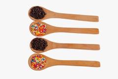 Wooden Spoon on White Background Stock Photos
