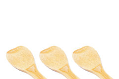 Wooden spoon. On white background Stock Photography
