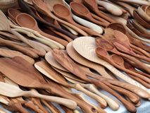 Wooden spoons. And other kitchen instruments Stock Image