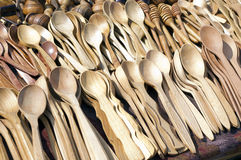 Wooden spoons. It is a lot of of variants Stock Photography