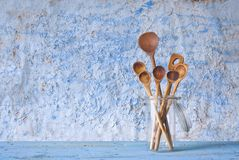 Wooden spoons, cooking concept Royalty Free Stock Image
