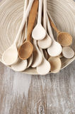 Wooden spoons in dish Royalty Free Stock Image