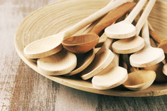 Wooden spoons in dish Stock Photography