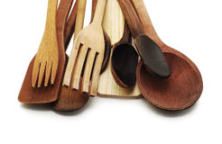 Wooden spoons and forks Royalty Free Stock Image