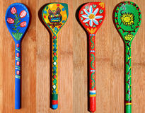 Wooden Spoons Painted Royalty Free Stock Photos