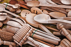 Wooden spoons. Stock Image