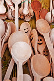 Wooden spoons. Royalty Free Stock Photo