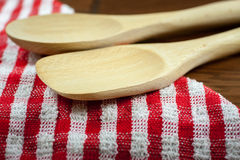 Wooden Spoons on a table Royalty Free Stock Image