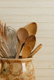Wooden Spoons And Wire Whisks Stock Photo