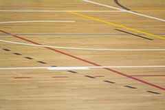 Wooden sport field Royalty Free Stock Photography