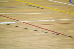 Wooden sport field Royalty Free Stock Photos