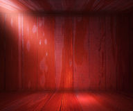 Wooden Spotlight Room Background Red Texture Royalty Free Stock Images