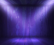 Wooden Spotlight Room Violet Background Royalty Free Stock Photos